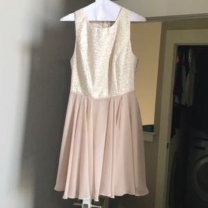 Francesca's Cream Colored Dress